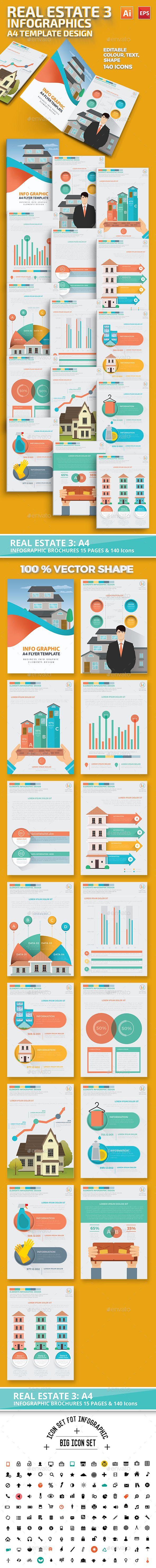 Real estate 3 infographic Design | Infografía