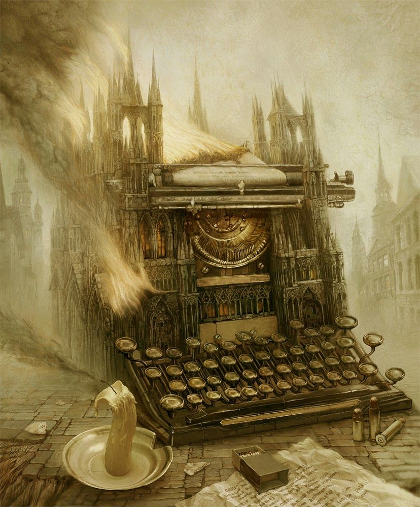 Gothic typewriter - Andrew Ferez (Андрей Ферез)...   Kai Fine Art