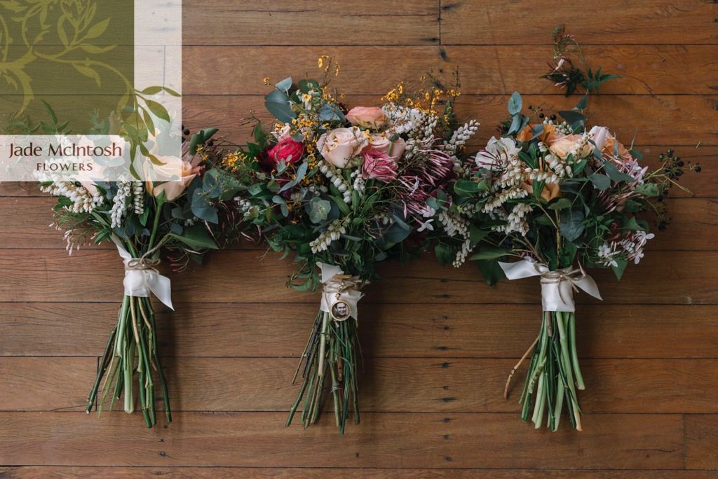 These Wild And Unstructured Bouquets Feature Roses Ranunculus Pieris Egg And Bacon Mini Gum And Trailin With Images Bridal Party Flowers Wedding Flowers Winter Bouquet