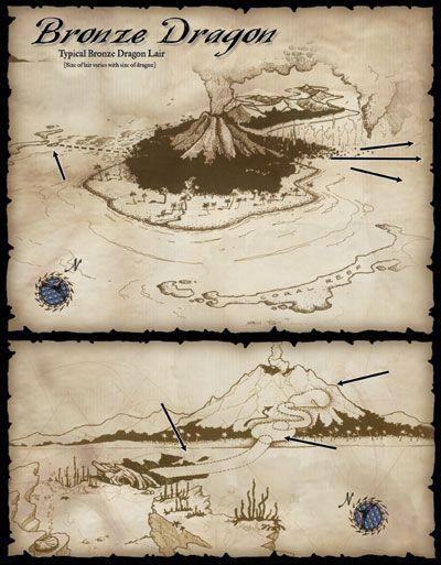 Lair Dragon Bronze Fantasy Map Dungeon Maps Dnd Dragons