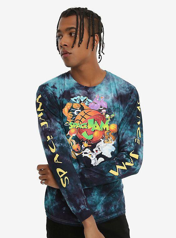 Space Jam Group Tie Dye Long Sleeve T Shirt Tie Dye Long Sleeve Jam Clothing Space Jam Outfit