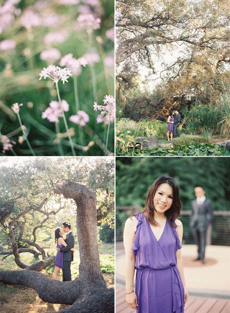 los angeles arboretum engagement photography