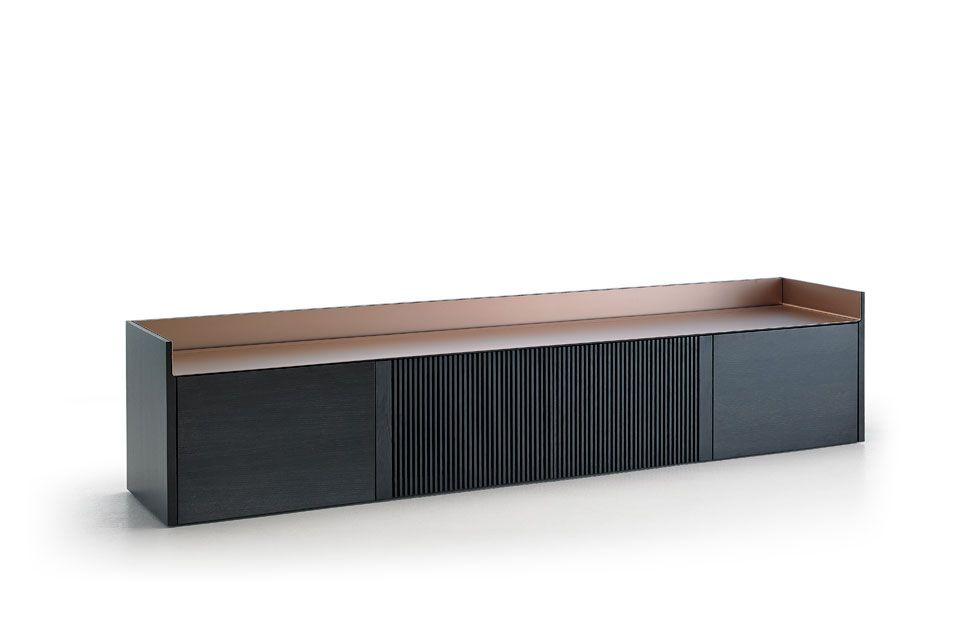 Stockholm by Mario Ruiz for Punt. Love the mix of wood and aluminum tops. #July2015