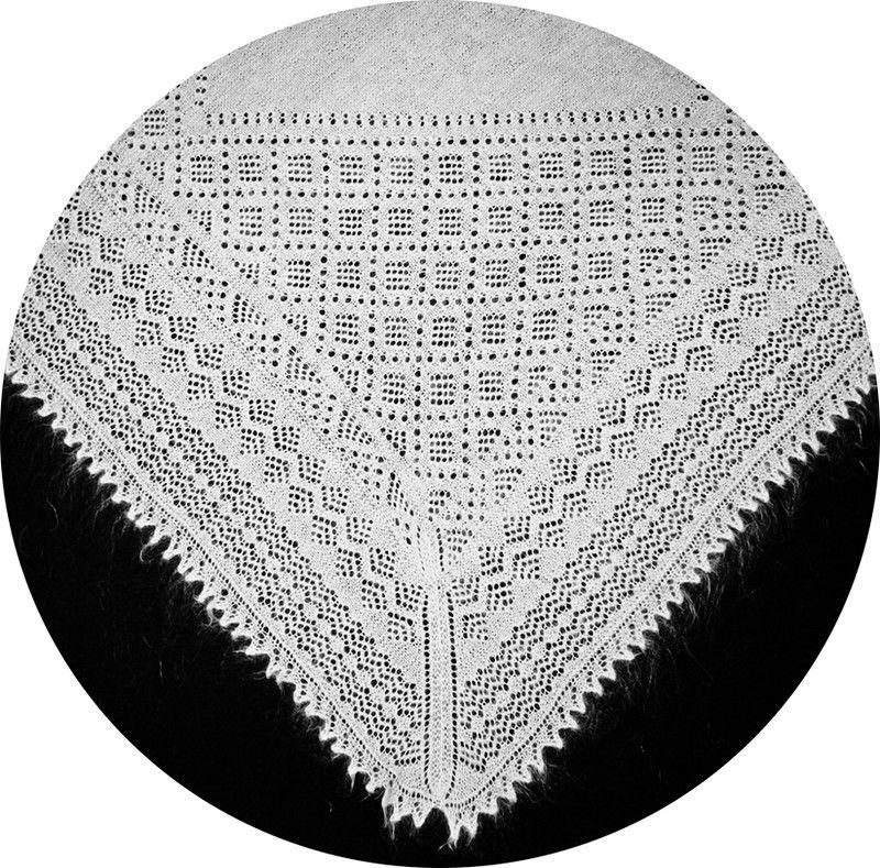 связать оренбургский платок спицами схемы с описанием