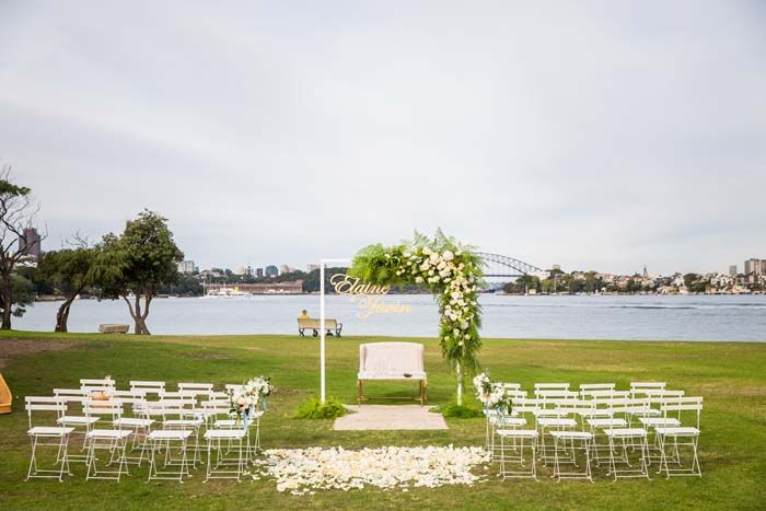 A stunning ceremony location, right on Sydney Harbour. Credits in comment.