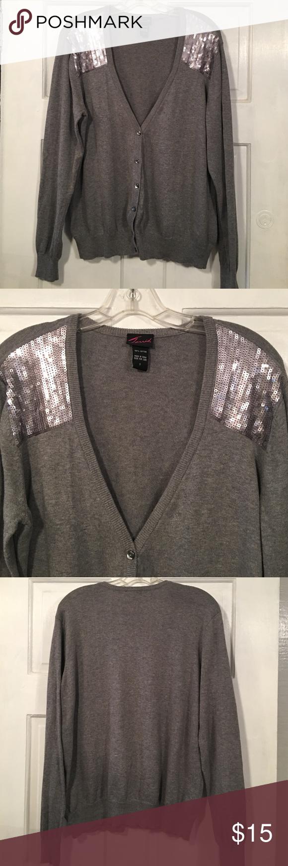 Grey Sequin Cardigan | Grey, Sweater cardigan and Sequins