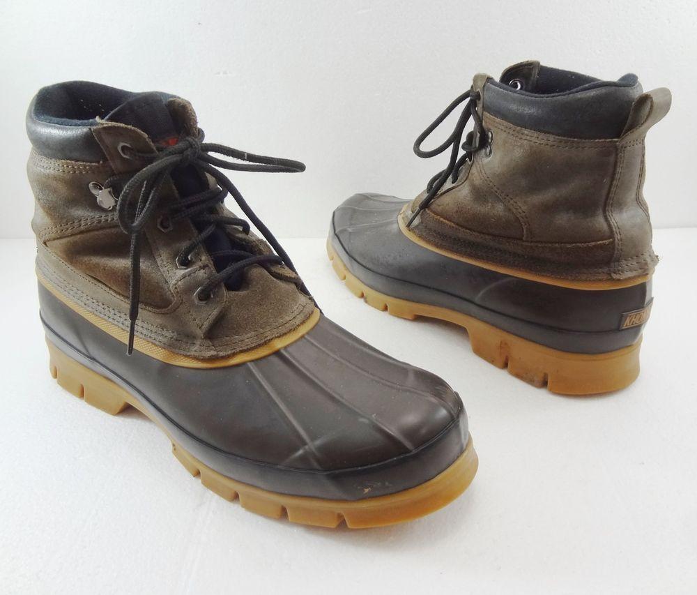 Khombu Mens Size 12 Juno Brown Duck Boots Steel Shank | Mens ...