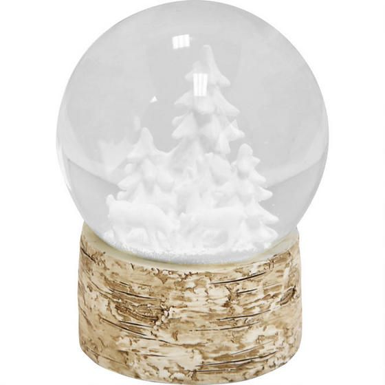 White Forest Snow Globe Snow Globes Drapery Panels Modern Draperies