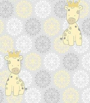 Design Adorable Baby Clothing And Craft Projects With This Giraffe Theme Cotton Fabric Print Visit Joann For More Nursery Collections
