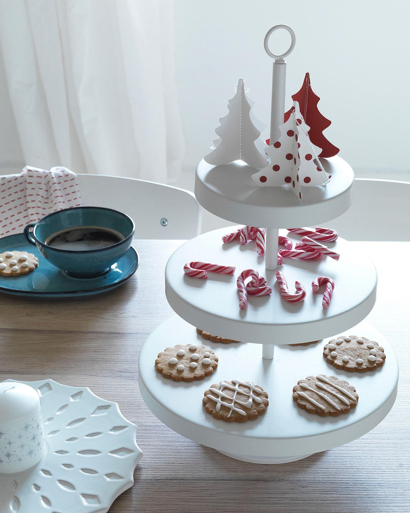 VINTERFEST Hängedekoration - Weihnachtsbaum, rot/weiß - IKEA Österreich