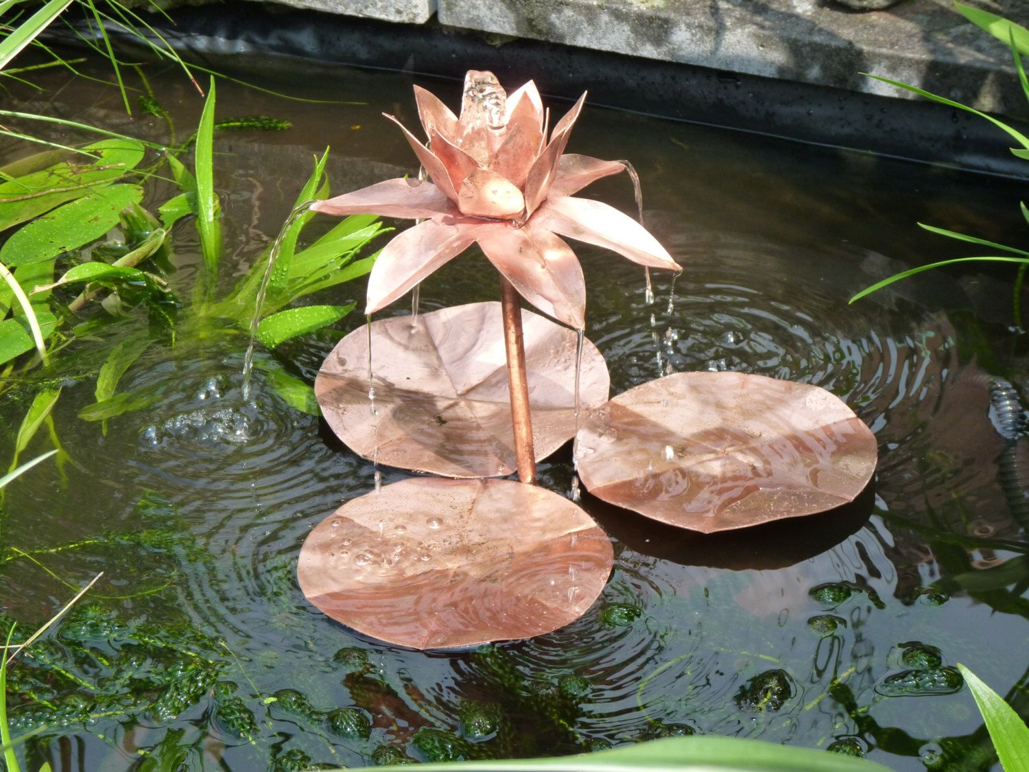 Copper Lotus Flower Fountain Sculpture For Pond Or Water Feature By  DeshcaDesigns On Etsy Https: