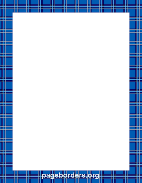Blue Plaid Border Clip Art Page Border And Vector Graphics Page Borders Borders For Paper Clip Art