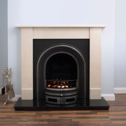 Aurora Dorchester Flat Against Wall Electric Fireplace Suite | Rooms | DIY at B&Q