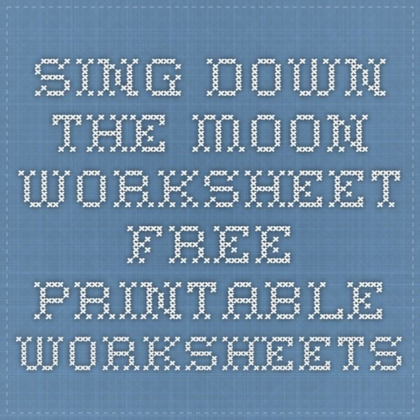 Sing down the moon worksheet free printable worksheets home school fandeluxe Image collections