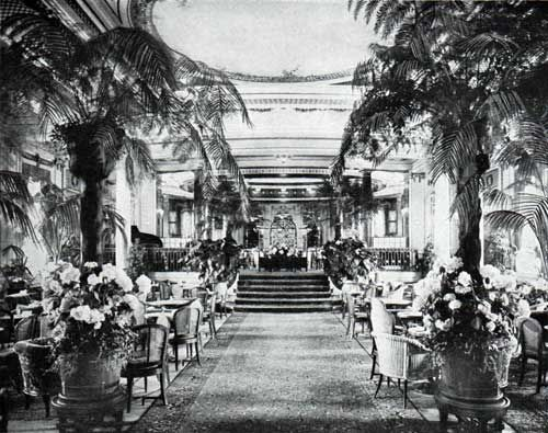 The Winter Garden On The S S Leviathan Of The United