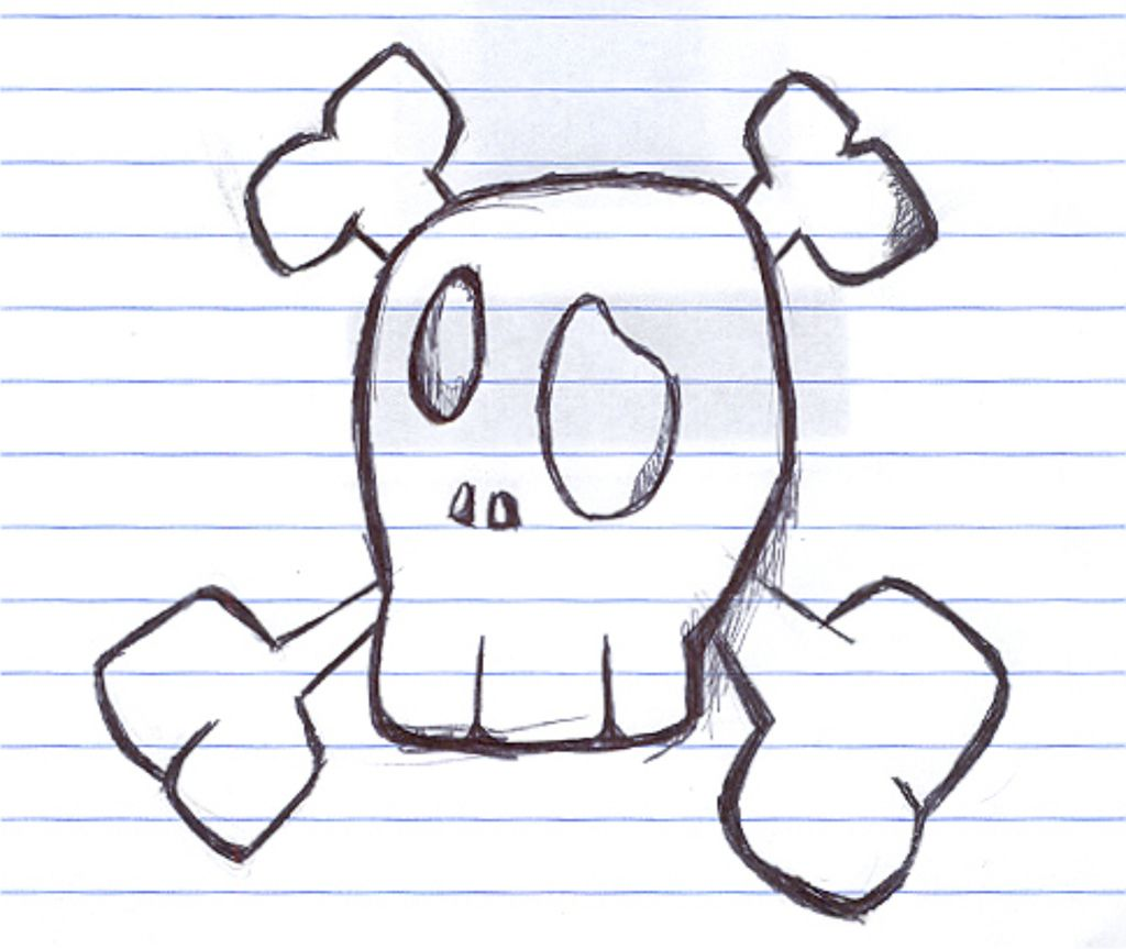Some easy things to draw fun skull draw by coxao on for Thing to draw