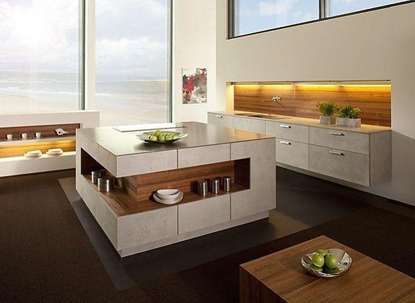 Quadratischer Küchenblock 1800x1800 Pavimenti in legno