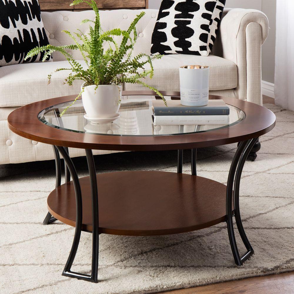 Cocktail Round Coffee Table Glass Shelf Carlisle Walnut Charcoal Grey Modern New Iloveliving Moderntr Coffee Table Round Coffee Table Coffee Table With Shelf [ 1000 x 1000 Pixel ]