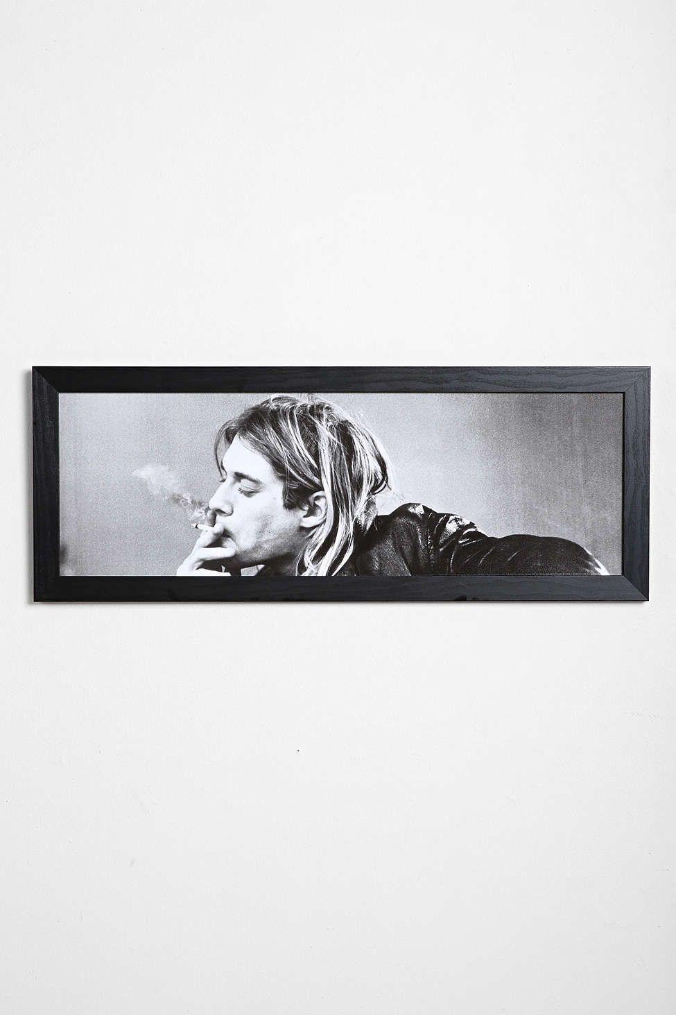 Kurt Cobain Framed Wall Art | Framed wall art, Walls and Flats