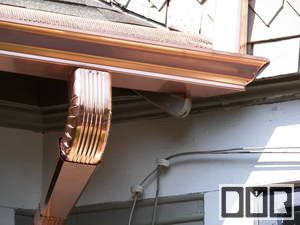 Gutter By Dmr Gutters Com Featured In The Gutterhelmet Com Custom Gutters Collection Copper Gutters Gutters Gutter