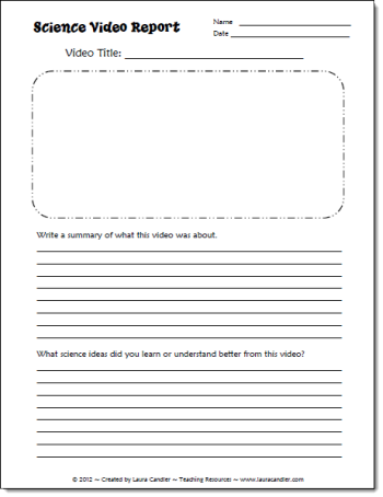 Writing a science report primary school