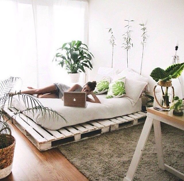 15 Wicked Rustic Bedroom Designs That Will Make You Want Them: Plant Filled Bedroom