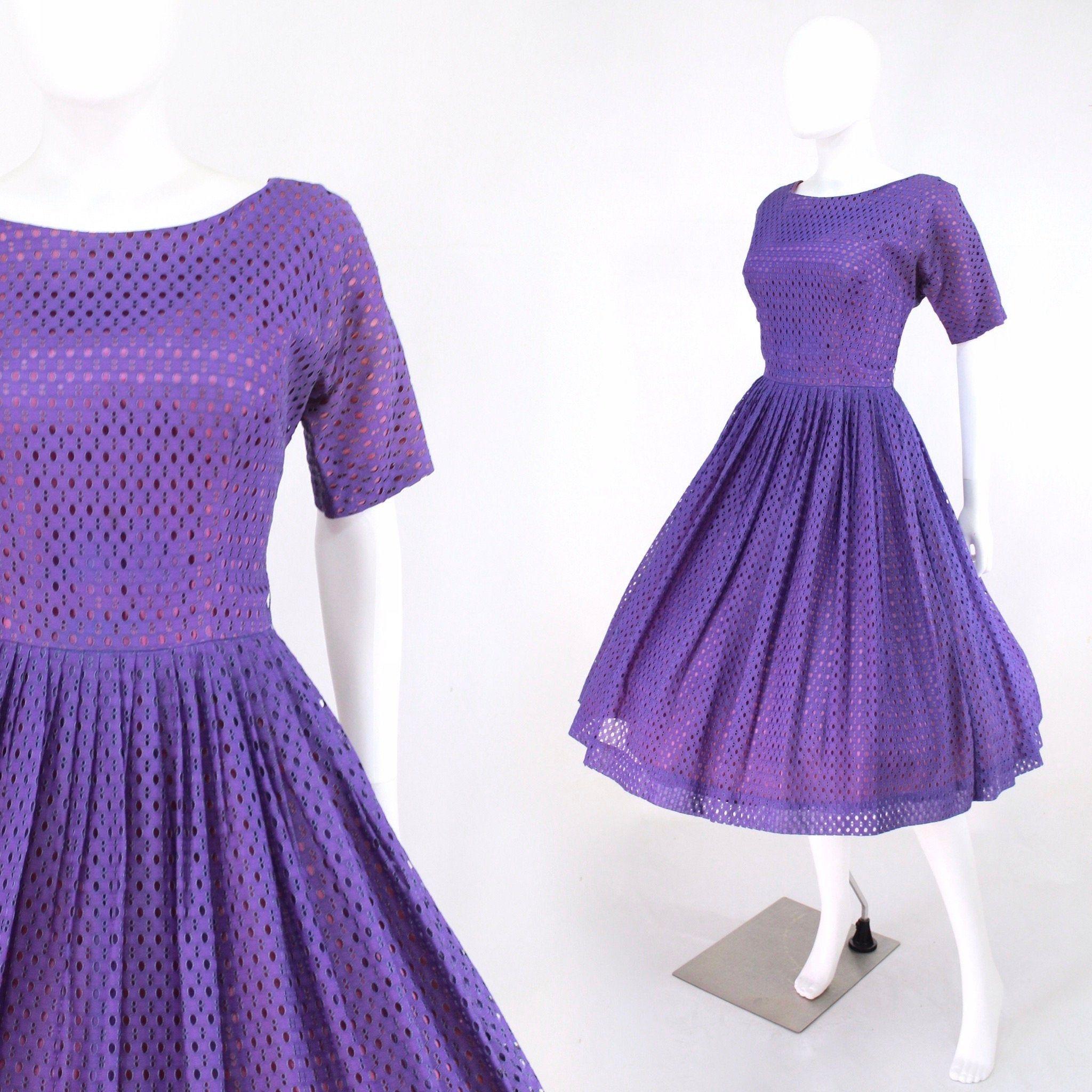 1950s Purple Fit Flare Dress 1950s Purple Dress Vintage Etsy In 2021 Vintage Purple Dress Fit Flare Dress Vintage Dresses [ 2048 x 2048 Pixel ]