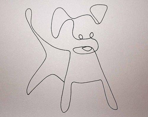 One Line Drawing Dog Dog Line Drawing Dog Line Art