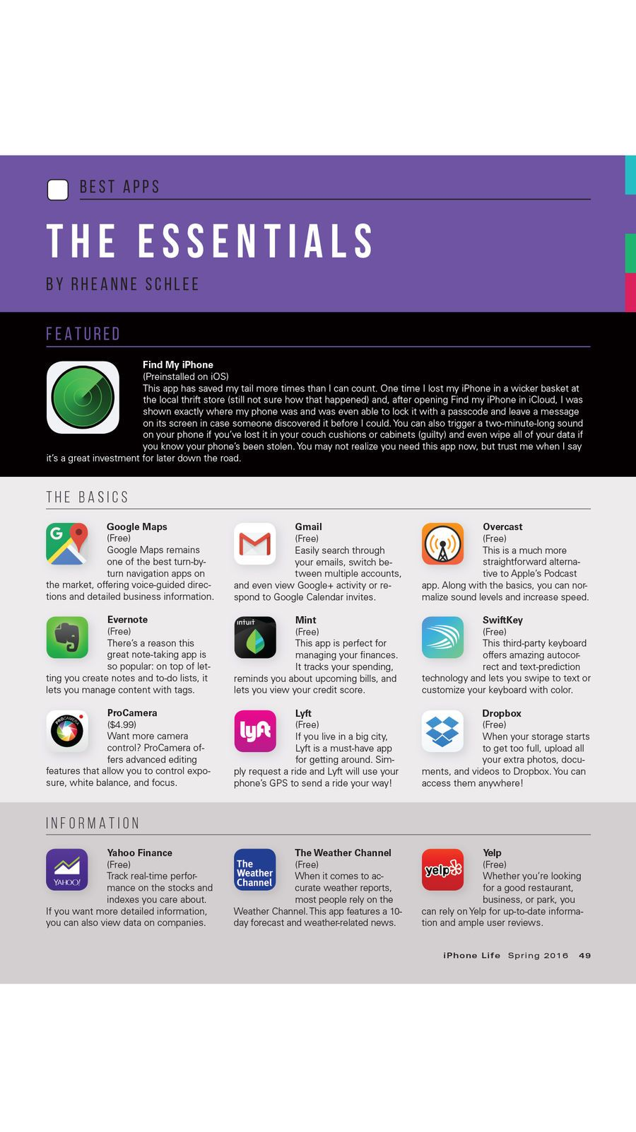 iPhone Life magazine Best Apps, Top Tips, Great Gear