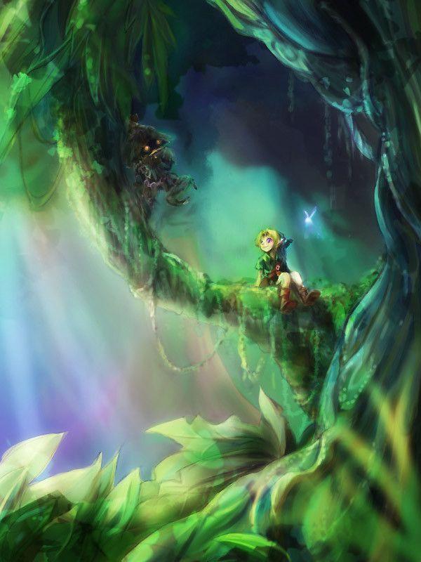 Dans les bois perdus video games legend of zelda link - Link dans zelda ...