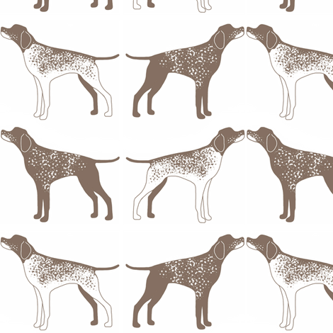 german shorthair pointer graphics | Clip Art of a Stern White and ...