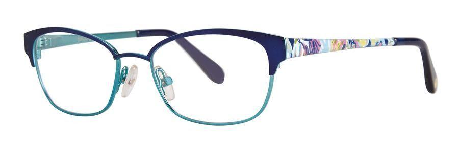 Lilly Pulitzer MORGANA Navy Eyeglasses Size45-15-120.00