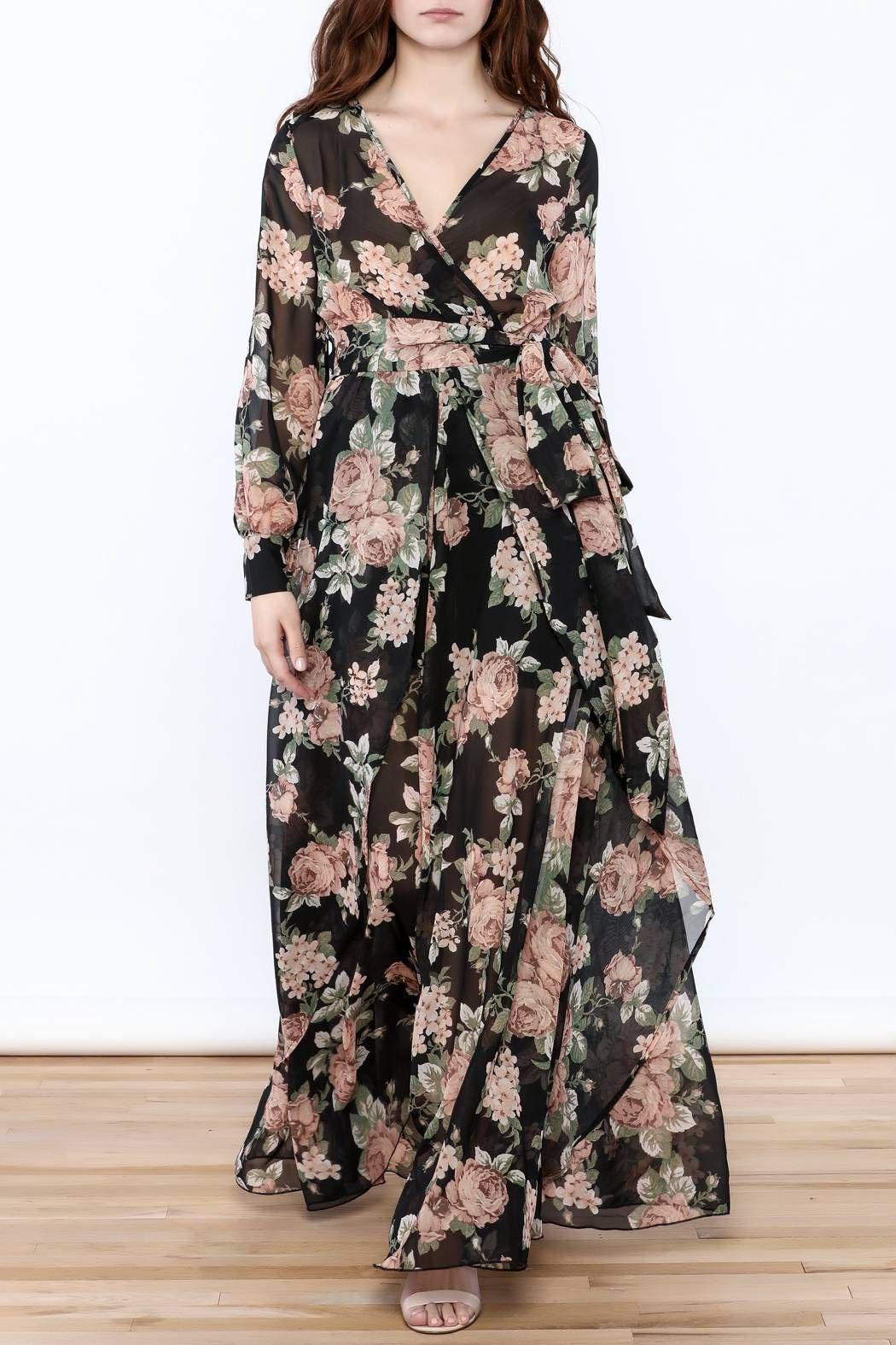 Floral Maxi Wrap Dress Maxi Outfits Floral Maxi Dress Dresses [ 1575 x 1050 Pixel ]