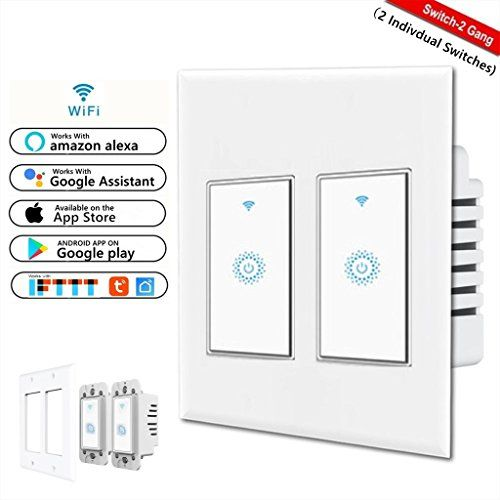 Smart wifi switch wireless smartphone remote control wall light smart wifi switch wireless smartphone remote control wall light switch works with amazon alexa google home android ios from anywhere timing funct aloadofball Choice Image
