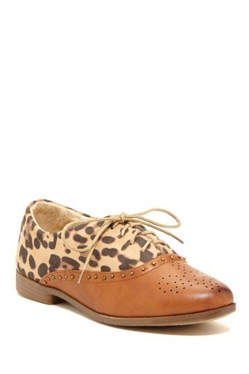 Leopard and cognac oxford