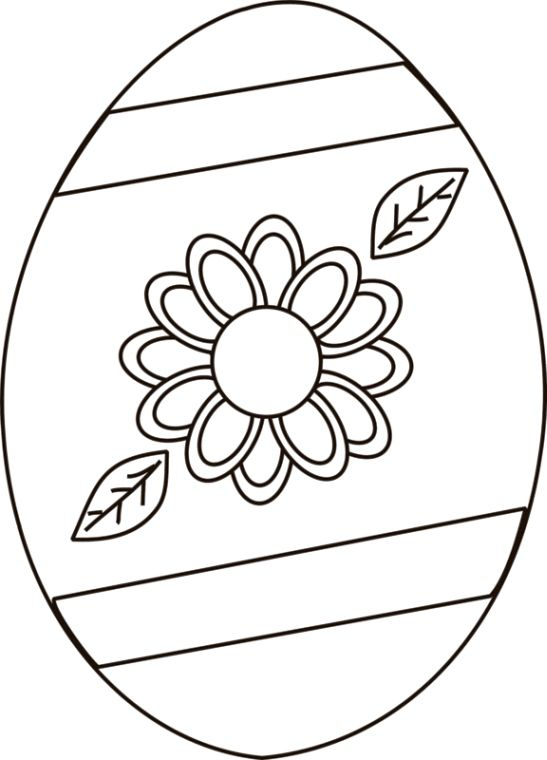 Free Printable Easter Egg Coloring Sheet | Coloring easter ...