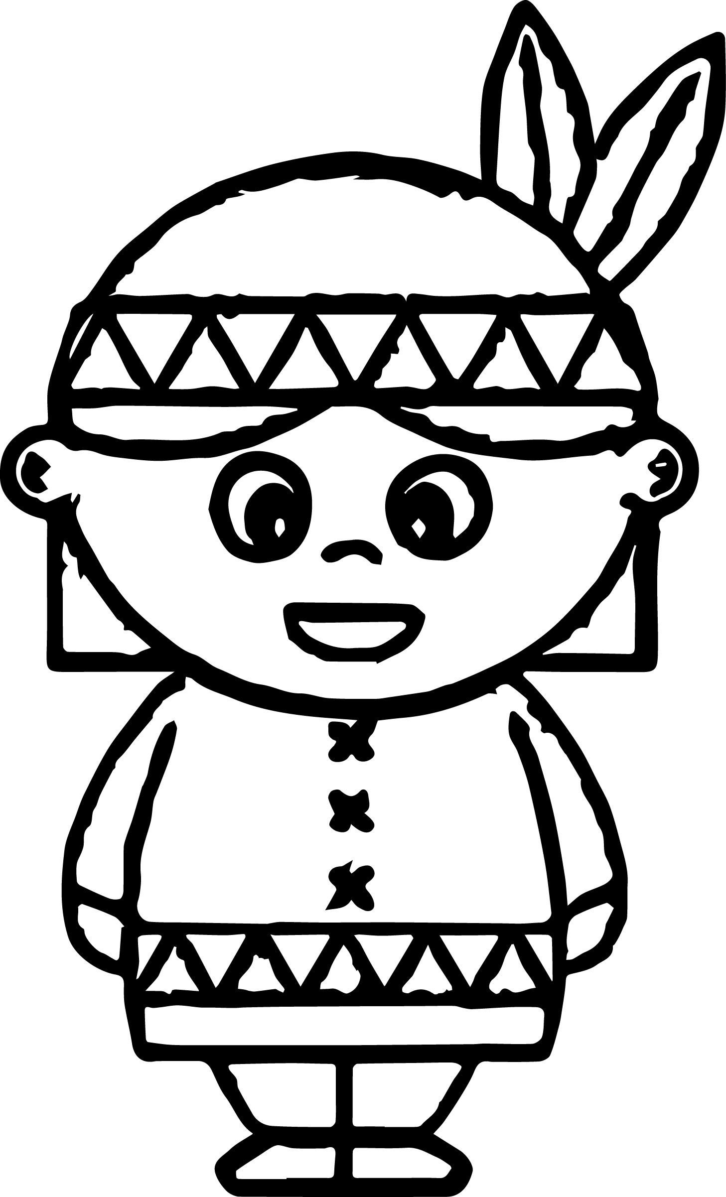 American Indian Coloring Pages