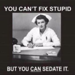 Sedating a combative patient meme