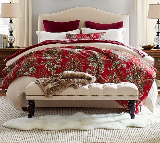 Raleigh Upholstered Curved Low Bed Furniture Duvet Tall Bed