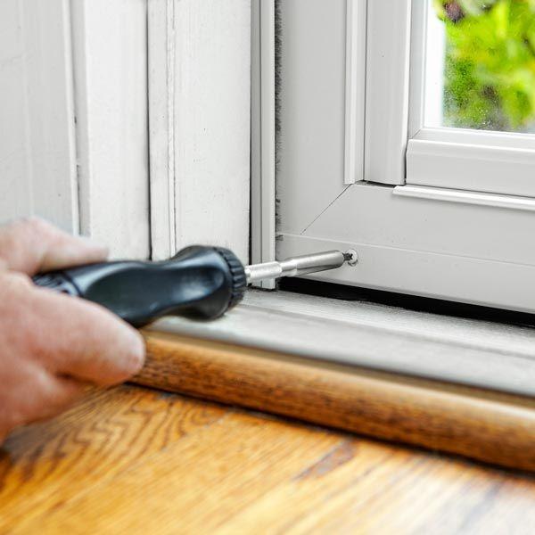 How To Install An Aluminum Storm Door Storm Door Door Sweep Aluminum Storm Doors