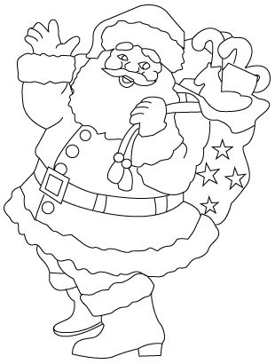 Santa Claus Drawing Christmas Stencils Christmas Drawing