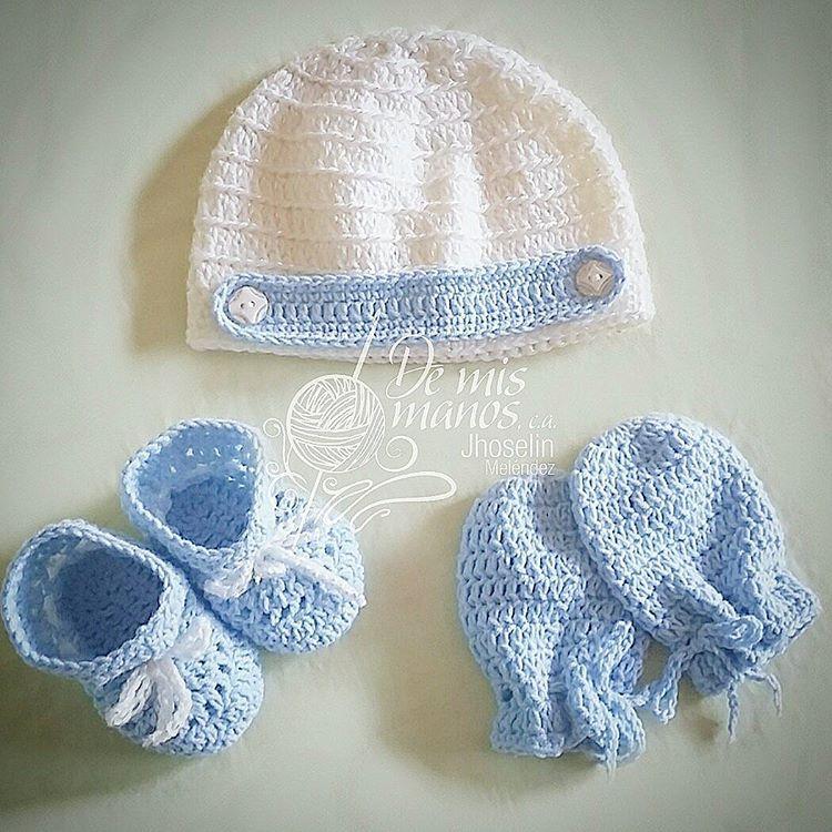 Set de accesorios para recién nacido Gorro, escarpines y manoplas ...