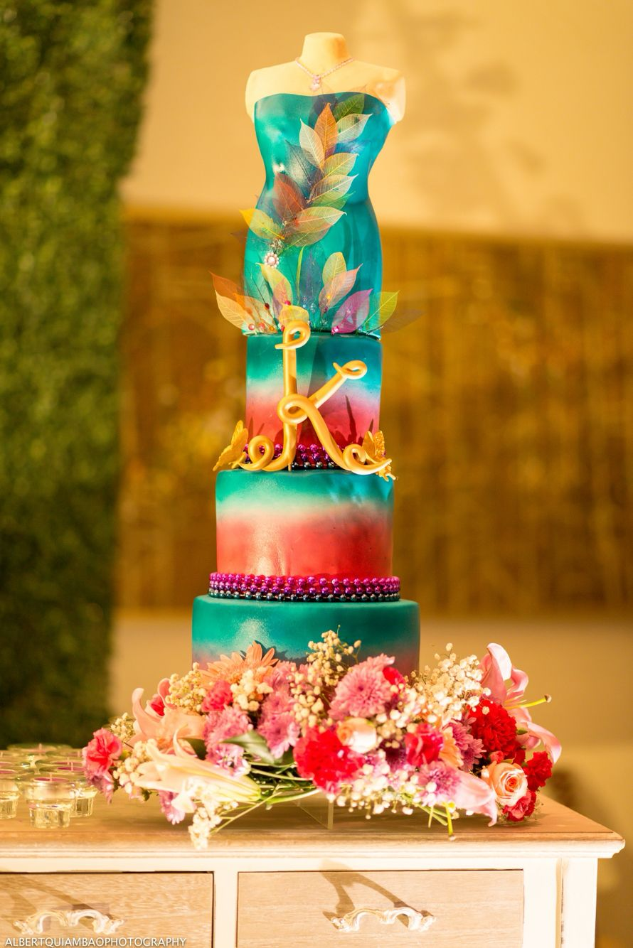 18th Birthday Cake Enchanted Garden theme, inspired from ...