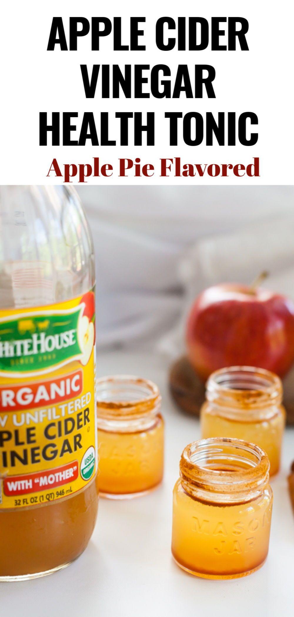 Apple Pie Flavor Apple Cider Vinegar Shot Fall Recipes Healthy Shot Recipes Healthy Dessert Recipes Easy