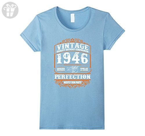 Womens Made In 1946 71th Birthday 71 Years Old Gift T Shirt Small Baby Blue
