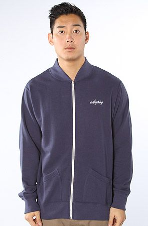 The Scattered Zip Up Sweatshirt in NavyBlue S|XL