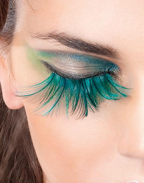 Sexy Green Feather False Eyelashes Extensions Baci Paradise Dreams