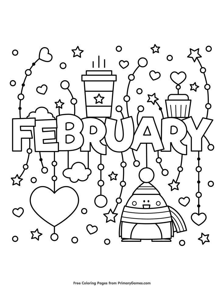Winter Coloring Pages eBook: February | Coloring Pages | Coloring ...