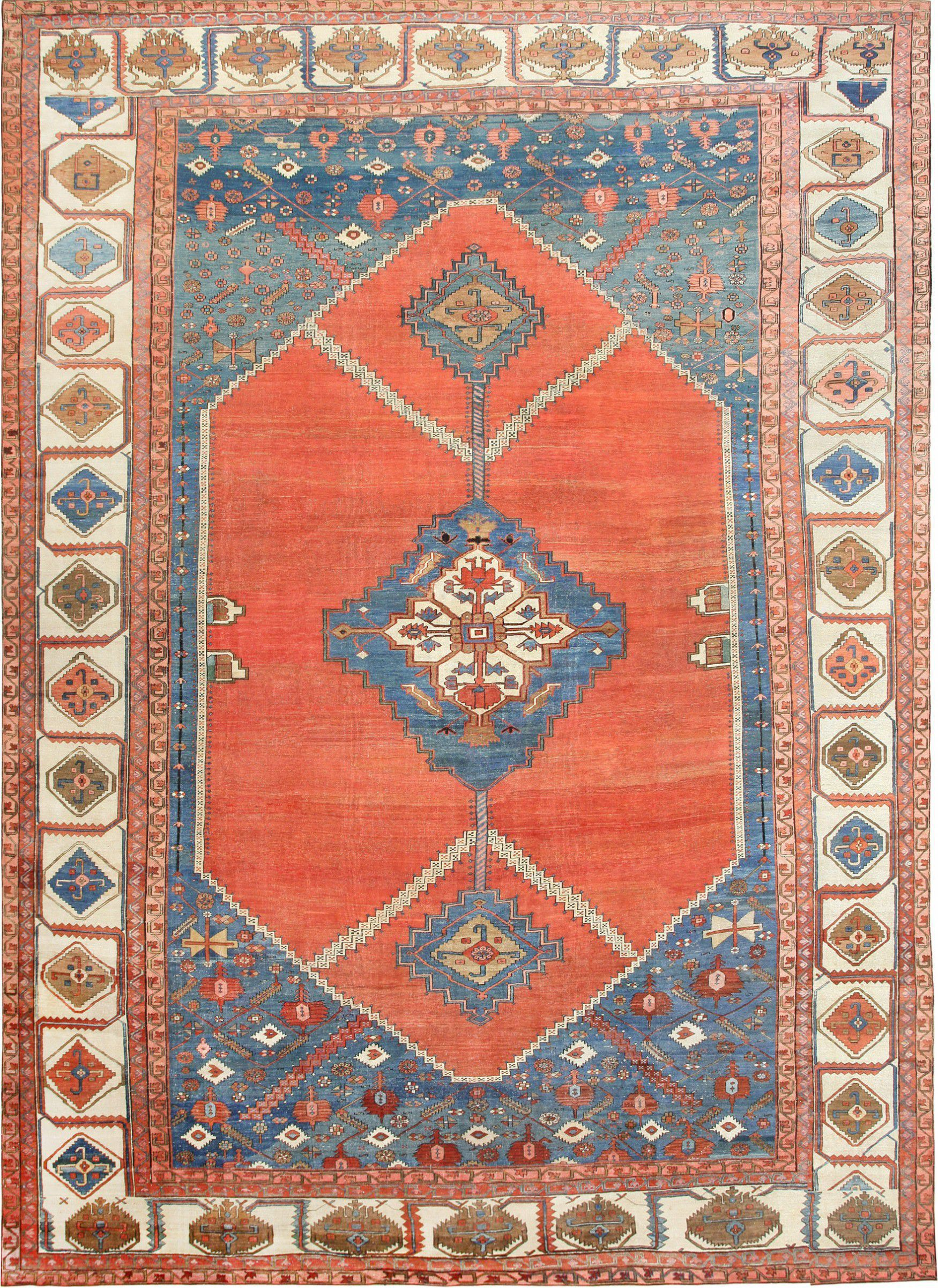 Antique Persian Bakshaish Carpet 47431