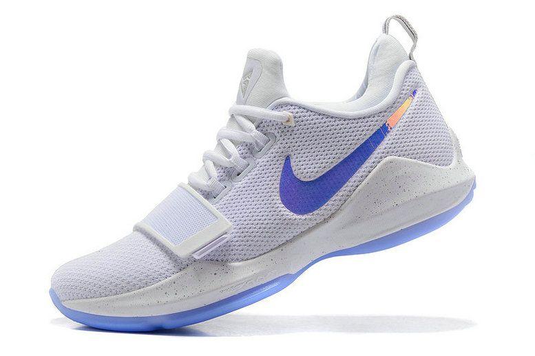 new style aa6ab eb19d Size Euro 44.5 Nike Zoom PG 1 Triple White Iridescent Nike Swoosh